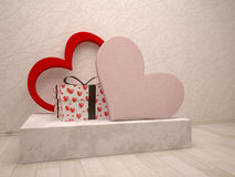Love box and gift box Stock Images