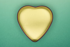 Love Box. Heart Shaped Box Horizontal Photo (with clipping path Stock Photo