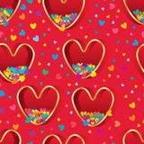 Love box many colorful love fly seamless pattern Stock Photo