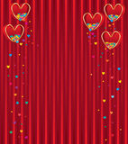 Love box red fly colorful love Royalty Free Stock Images