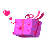Love box vector. Love box isolated on the white Royalty Free Stock Photo
