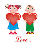 Love boy and girl Stock Photos