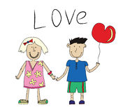 Love between boy and girl Stock Images