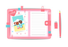 Love boy and girl with note book 4 Royalty Free Stock Photo
