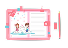 Love boy and girl with note book 9 Stock Photography