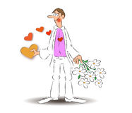 Love boy, Love goes through the stomach Royalty Free Stock Photo