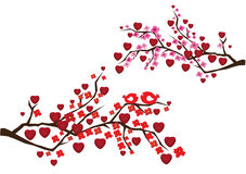Love branches Royalty Free Stock Photos