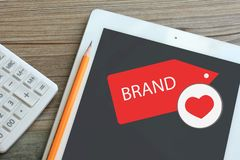 Love brand concept royalty free stock photography