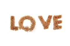 Love from bread alphabet Royalty Free Stock Photography