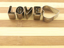 Love and bread cutting board. Stock Images