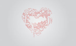 2.Love break. Design image of a heart broken Stock Photo
