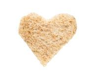 Love Breakfast Heart Toast Stock Photos