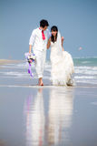 In love bride and groom. Are posing in romantic emotion Stock Photo