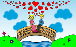 Love on the bridge Royalty Free Stock Image