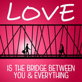 Love bridge Stock Photo