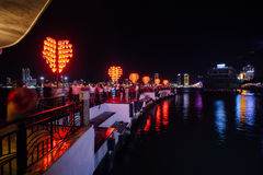 Love Bridge in Da Nang. This is the Love Bridge in Da Nang at night.nThis one is a new place for couple to memorize their anniversary and landmark in Da Nang Royalty Free Stock Photography