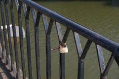 Love bridge in Logroño stock photos