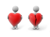 Love  and broken love Royalty Free Stock Photo
