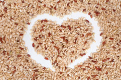 Love Brown Rice Royalty Free Stock Images