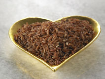 Love brown rice Royalty Free Stock Photo