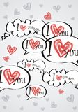 Love bubbles background Royalty Free Stock Images
