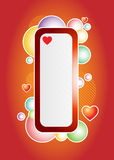 Love bubles banner Royalty Free Stock Photos