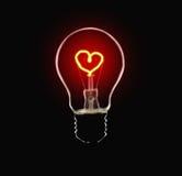 Love Bulb Royalty Free Stock Image