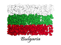 Love Bulgaria. Flag Heart Glossy. With love from Bulgaria. Made in Bulgaria. Bulgaria national independence day. Sport team flag Royalty Free Stock Photography