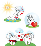 Love bunny Stock Image