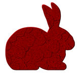 Love Bunny with Red Roses Pattern Stock Photos