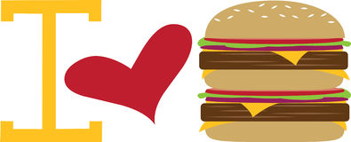 Love Burgers Stock Photo