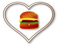 Love Burgers Royalty Free Stock Images