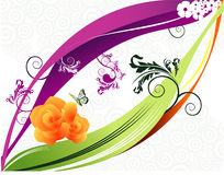Love butterfies vector. Abstract illustration Stock Photo