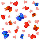 Love and butterflies Royalty Free Stock Image