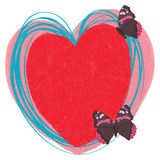 Love butterflies decor. Illustration painting love butterflies decor blue light graphic template write white color background object element Royalty Free Illustration