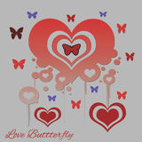 Love Butterfly Royalty Free Stock Photo