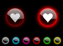 Love button. Royalty Free Stock Photography