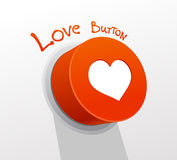 Love button. Stock Photos