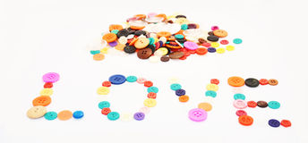 Love by Button colorful Royalty Free Stock Image