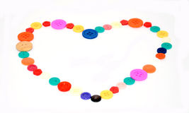 Love by Button colorful Royalty Free Stock Photo