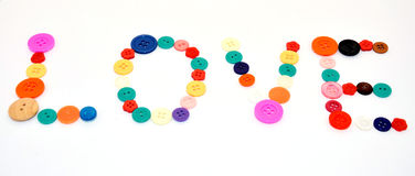 Love by Button colorful Stock Photos