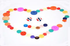 Love by Button colorful Royalty Free Stock Images