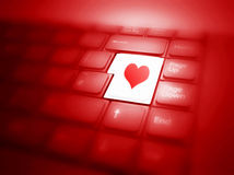Love button on keyboard Royalty Free Stock Photos