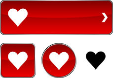Love  button set. Stock Photography