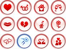Love  buttons. Stock Photography
