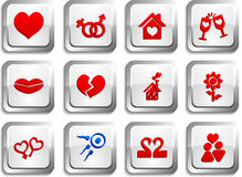 Love buttons. Stock Image