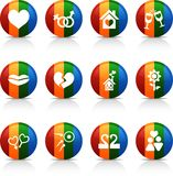 Love  buttons. Royalty Free Stock Images