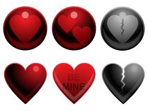 Love buttons Stock Photo