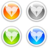 Love buttons. Royalty Free Stock Image