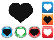 Love buttons set Royalty Free Stock Photography